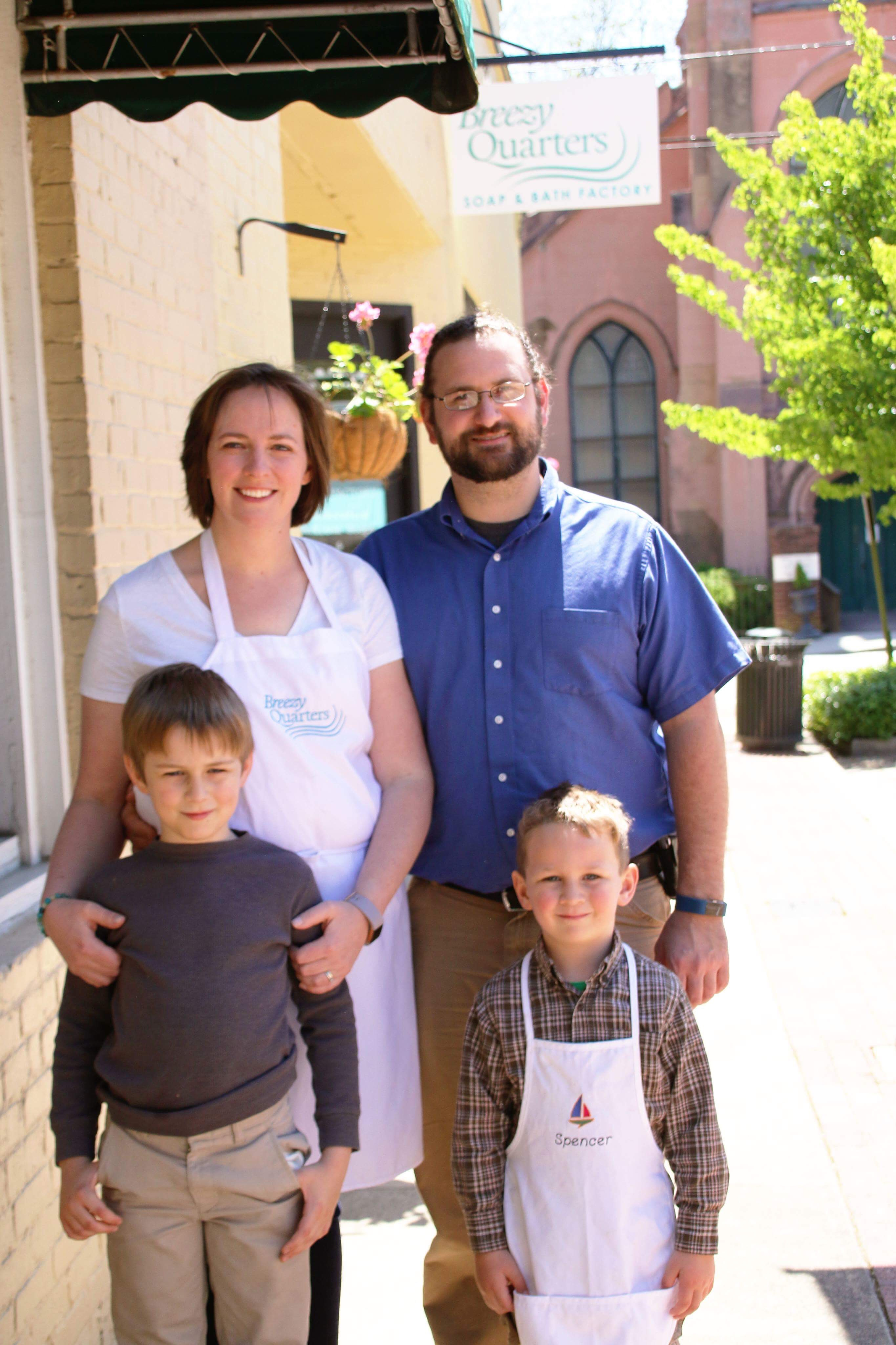 Family picture of the Bowsers, who run the soap shop in Abbeville.